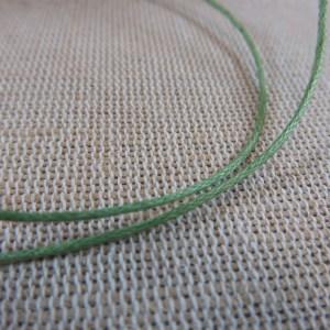 Fil cordon vert 1mm – vente par 10 mètres