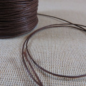 Fil cordon marron 1mm – vente par 10 mètres