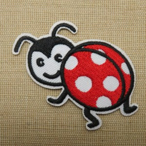 Patch coccinelle thermocollant – grand écusson insecte volant