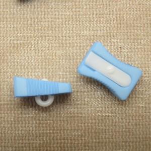Boutons taille crayon bleu écolier 16mm bouton de couture – lot de 3