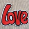 Patch LOVE écusson thermocollant textile à repasser