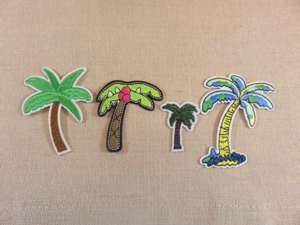 Patch thermocollant palmier écusson arbre noix coco textile