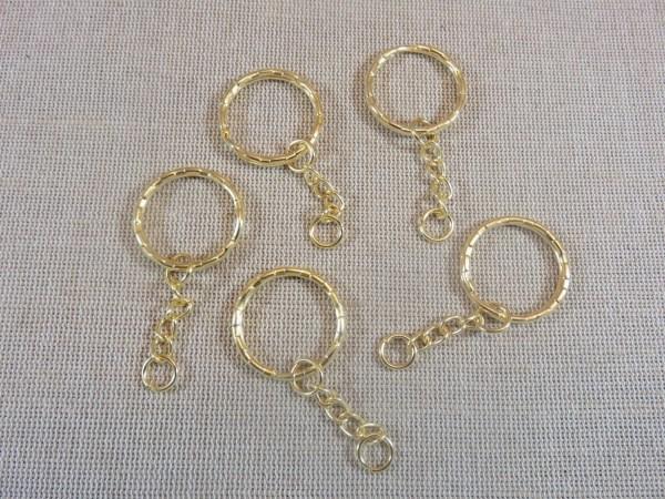Porte-clés Or à anneaux 53mm - lot de 5
