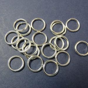 Anneaux de jonction 8mm argenté en métal ouvert – lot de 50