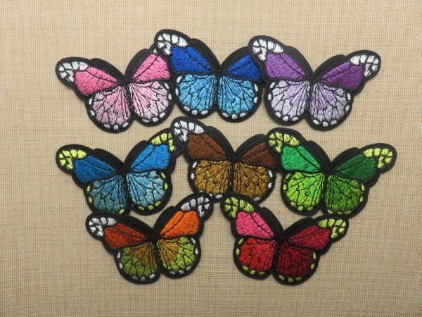 Patch papillon thermocollant - écusson papillon brodé pour vêtement