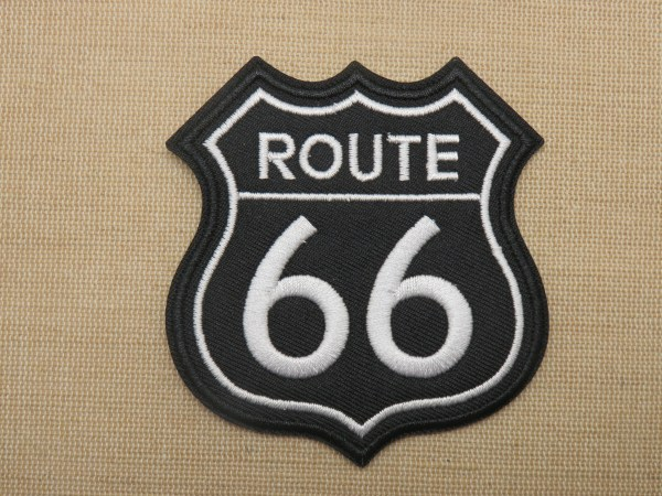 Patch écusson Route 66 thermocollant pour vêtement biker chopper