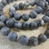 Perles Labradorite noir mat 6mm - lot de 10 pierre de gemme