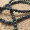 Perles Phoenix 4mm lapis lazuli malachite pierre de gemme - lot de 10