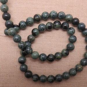 Perles Jaspe Kambaba 8mm pierre de gemme – lot de 10