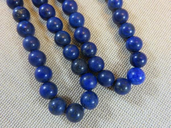 Perles Lapis lazuli 8mm ronde bleu - lot de 10 Pierre de gemme