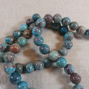 Perles Agate lacet fou 8mm pierre de gemme ronde – lot de 10