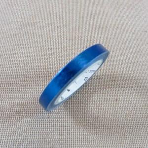 Washi tape bleu saphir laser brillant 5mm – papier adhésif 5 mètres