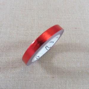 Washi tape rouge laser brillant 5mm – papier adhésif 5 mètres