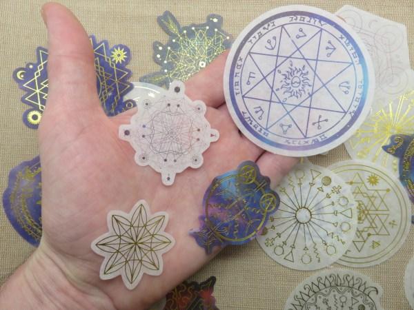Stickers autocollant géométrique scrapbooking - 20pcs