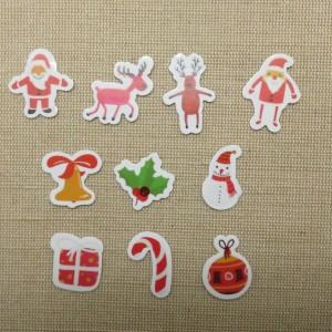 Sticker autocollant Noël étiquettes scrapbooking / 25pcs