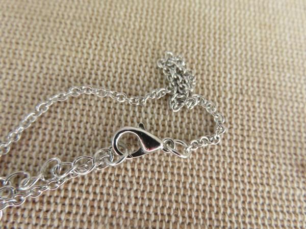 Collier de couple Yin Yang métal émaillé - bijoux de couple