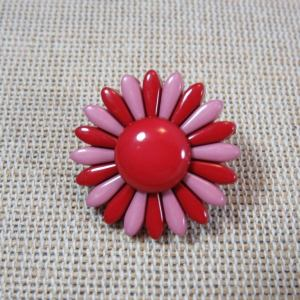 Bouton fleur rose effet pétale – Grand bouton de couture de marque UnionKnopf