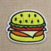 Patch Hamburger écusson thermocollant 45mm pour vêtement