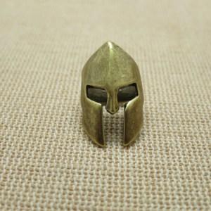 Perle casque spartiate guerrier laiton 23mm – perle de barbe viking