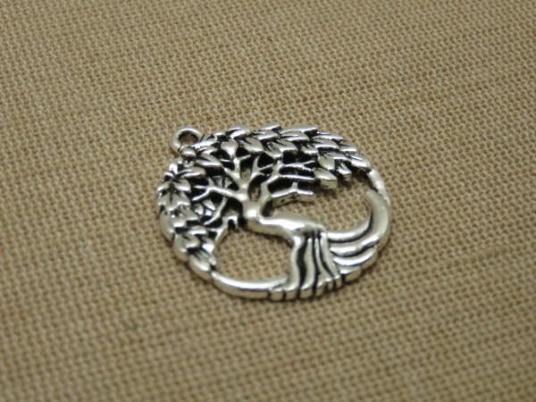 Pendentif arbre de vie ajouré Argenté breloque création bijoux bohème