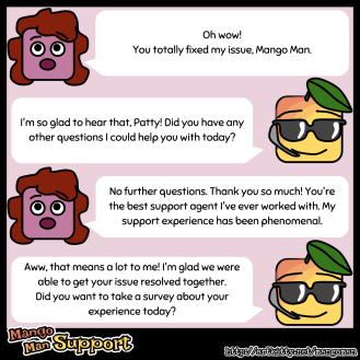 Thanks, Mango Man! #thanks #customersupport #feelingappreciated