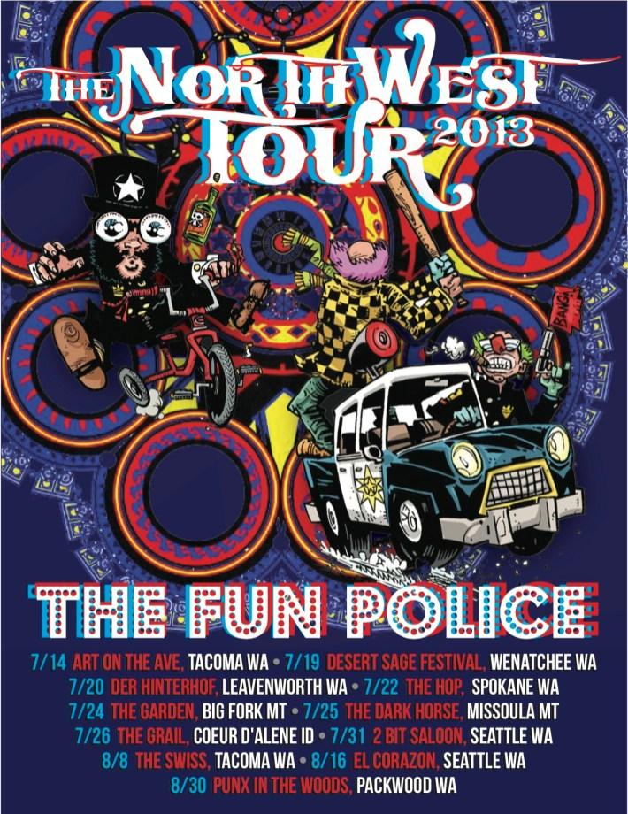 Poster - The Fun Police NW Tour