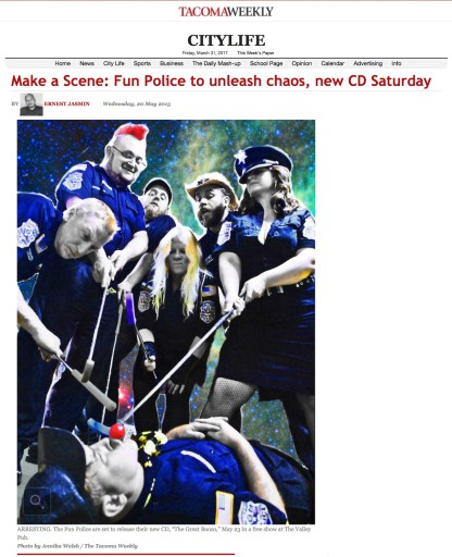 Promo Photo in Tacoma Weekly Newspaper