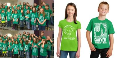Screenprint Design - Sawyer Woods School Choir Student Tees