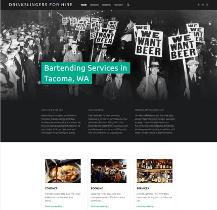 Web Design - Bartenders For Hire Service