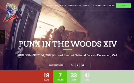 Website - Punx in the Woods music festival