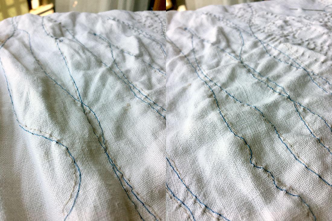 embroidery art in progress