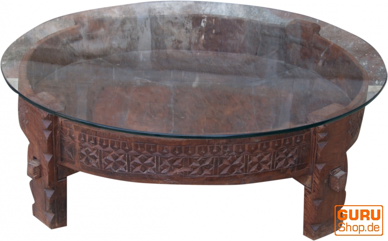 round coffee table coffee table with glass top 26x80x80 cm