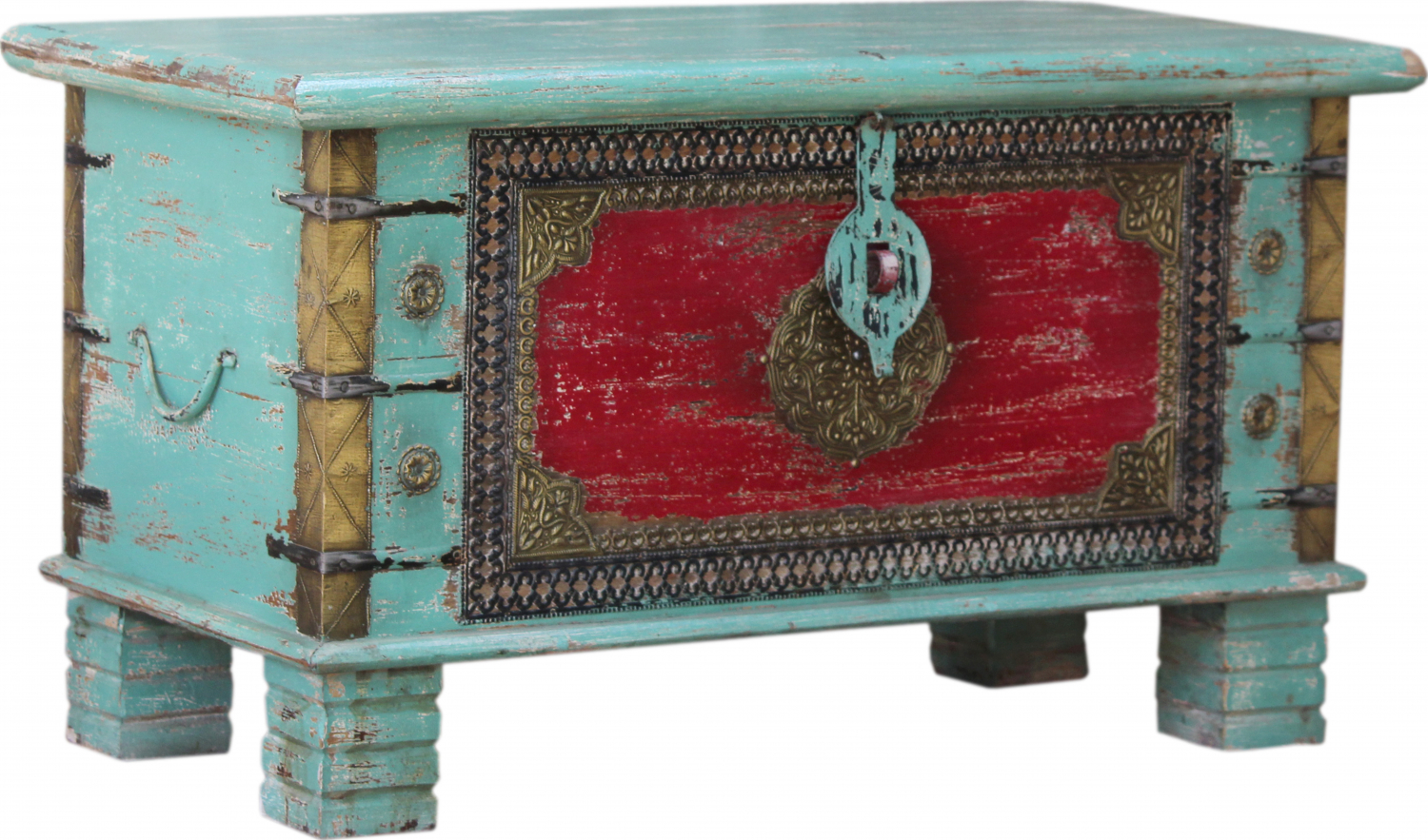 vintage wooden box wooden chest coffee table coffee table made of solid wood decorated model 42 45x80x40 cm