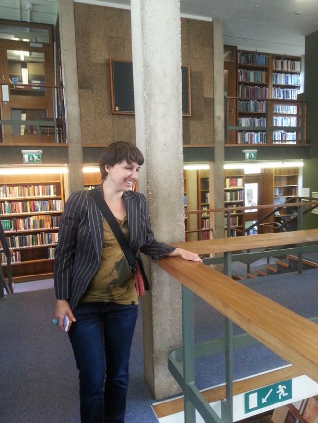 AnnaMaria Kardos at the CU Marshall Library