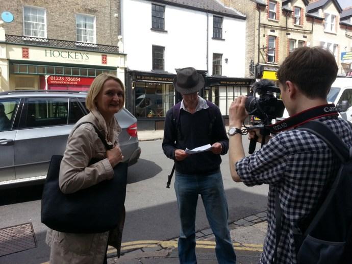 Josh Murfitt films Alban Low with Claire Koch
