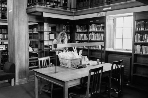 Anna Berry at the Land Economy Library