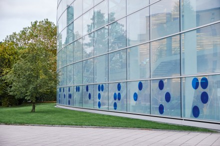 Susie Olczak's work at the Norman Foster Building, CU Sidgwick Site