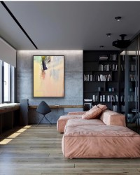 abstract painting in interior