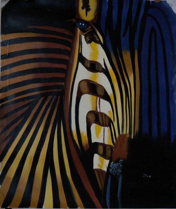 zebra painting abstract