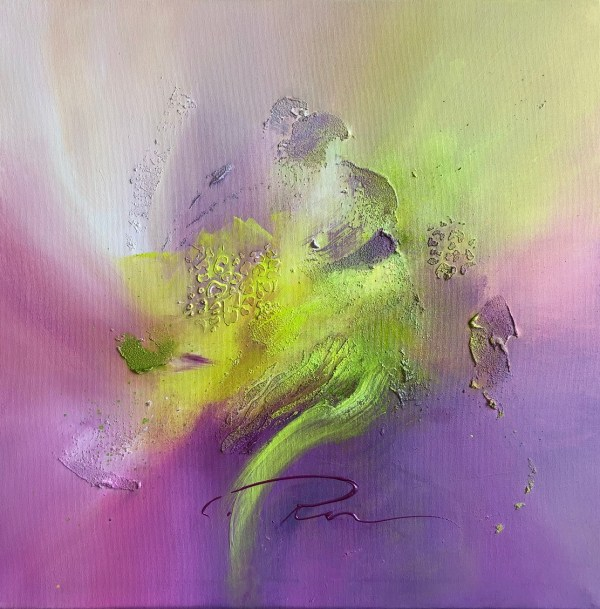 purple abstract painting