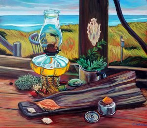 "Cynthia Whalen Nelson ""Weathering the Storm Margo Gelb Dune Shack"""