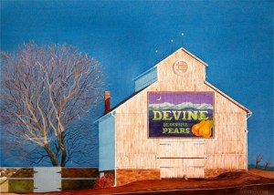 "Peter Hussey ""Devine Berkshire Pears"" Watercolor"