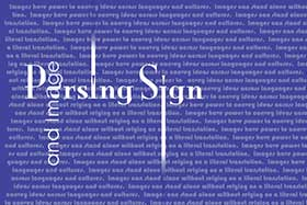 Parsing Sign and Image Exhibition Gallery