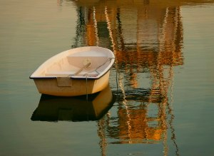 "Donna Parker ""Boat and Reflections"""
