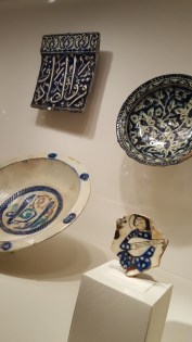 clockwise: late 13th-early 14th C, Iran; 14th C, Syria; 13th C Syria; 12th C Syria