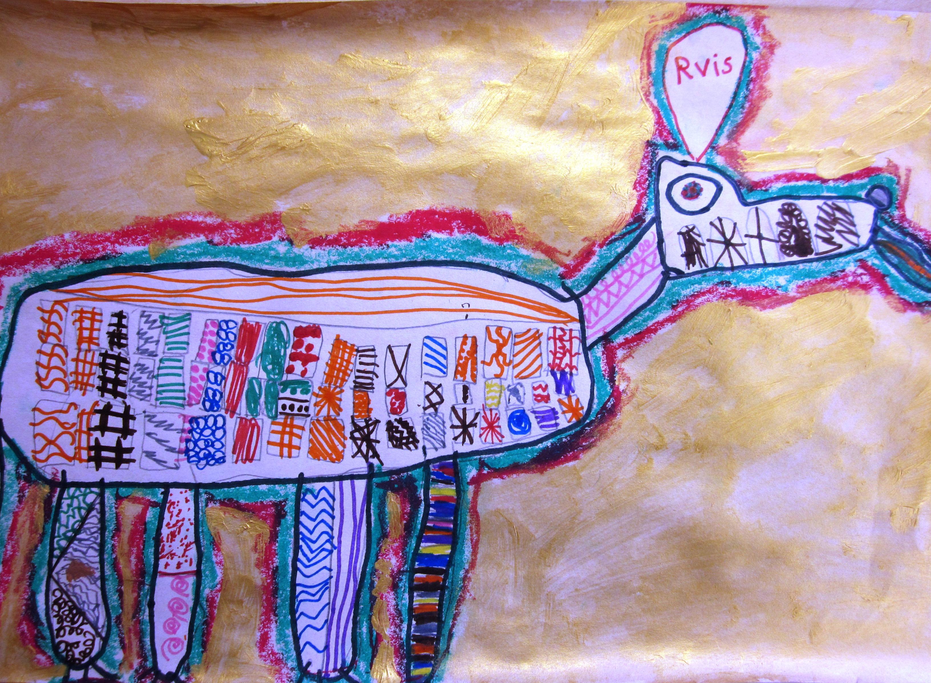 Textured Animals In Grade One