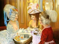 Carnival stories in Caffe Florian, Painting by Alex Levin