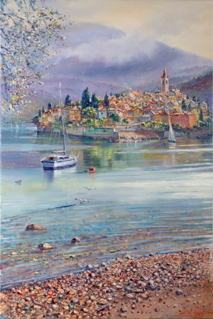 Como Lake Italy, Painting by Alex Levin