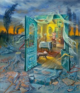 Fear of emptiness or my memories from Poland, Painting by Alex Levin