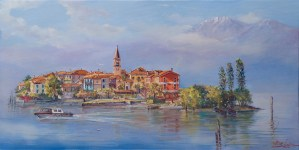 Lago Maggiore Italy, Painting by Alex Levin